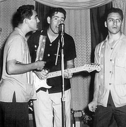 Morgan City swamp-popper and rockabilly guitarist Vince Anthony in the late 1950s or early '60s.