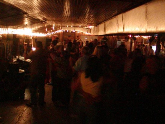 The packed dancefloor at Chilly's on Lake Verret near Pierre Part.