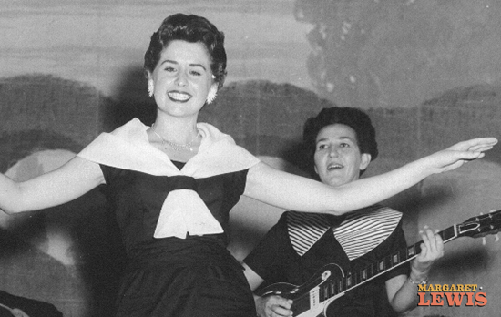 Margaret Lewis and Mira Smith on the Louisiana Hayride