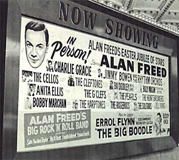 Charlie headlined Alan Freed's Easter show at the Brooklyn Paramount, 1957. Photo: charliegracie.com
