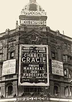 Charlie headlined the famed London Hippodrome, 1957.