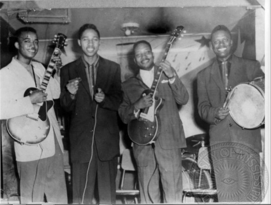 Syl Johnson, left, Billy Boy Arnold, Jody Williams, Reynolds Howard