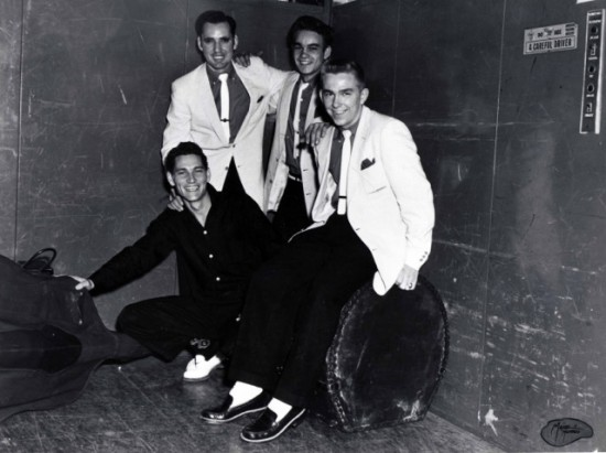 The Little Green Men: Billy Riley, left, Roland Janes, Marvin Pepper, and J.M. Van Eaton